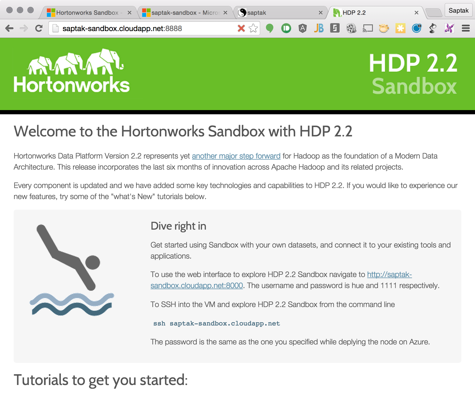 Getting Started With Hortonworks Sandbox On Azure Hortonworks