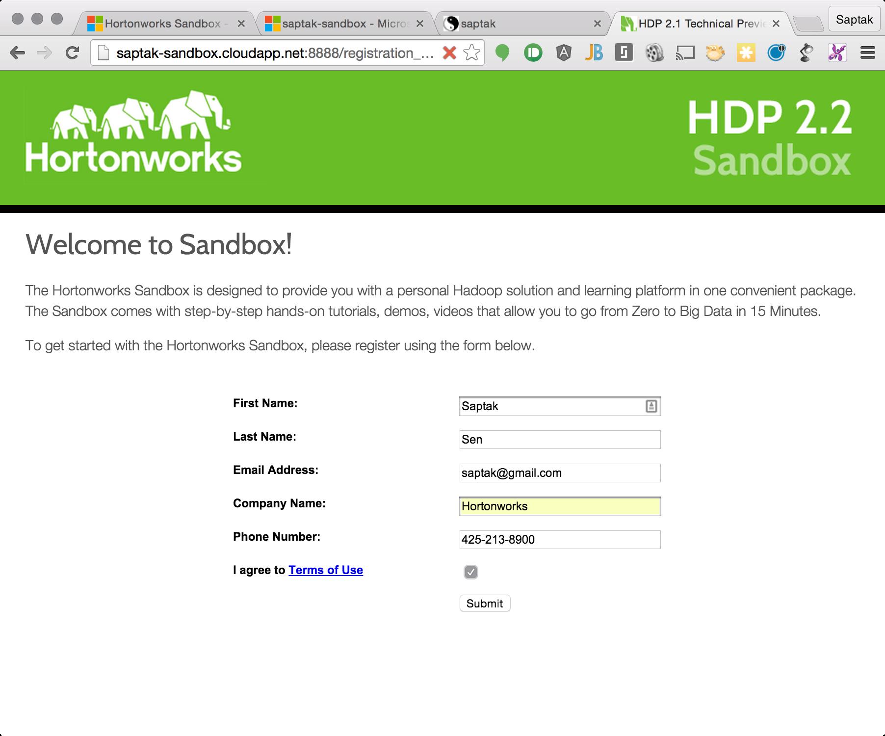 Getting Started with Hortonworks Sandbox on Azure - Hortonworks